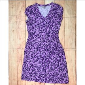 Athleta Purple athletic outdoor dress v neck